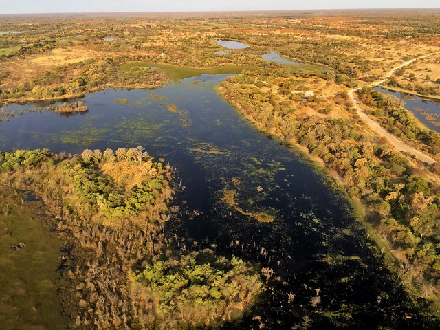 El Delta del Okavango desde el aire (A vista de avioneta)