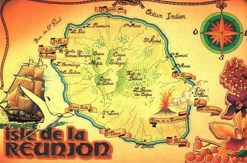 Mapa de Isla Reunión
