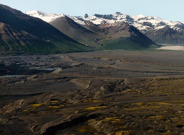 Paisajes de ceniza en Islandia vistos desde las alturas