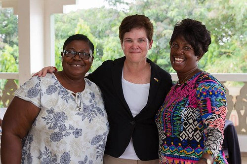 Agriculture Deputy Secretary Harden visits with women in agriculture around the world including this photo from her trade mission in Ghana in November 2015.