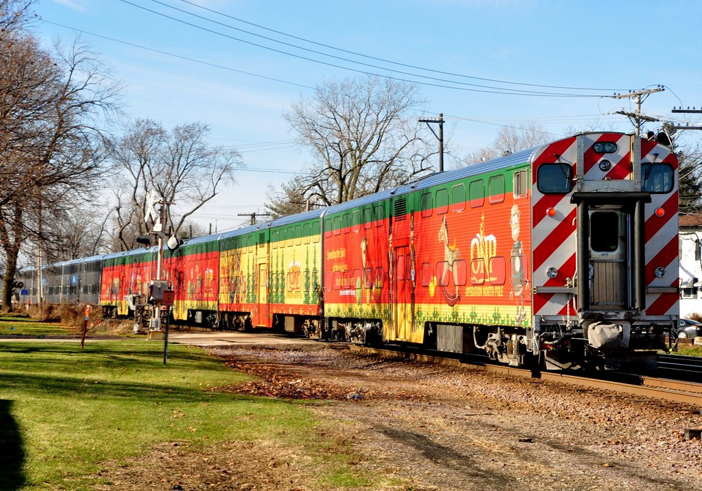 metra north pole train at west chicago by mark llanuza - Christmas Train Chicago