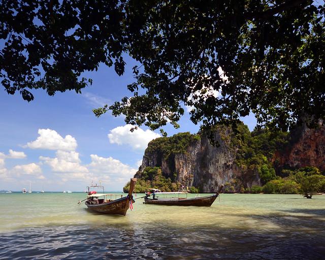 Nuestras vistas desde la playa de Railay en Tailandia