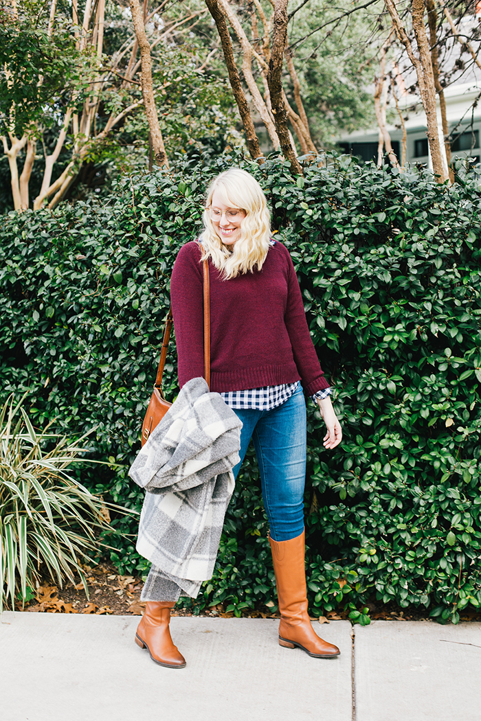 austin style blogger gingham winter outfit16