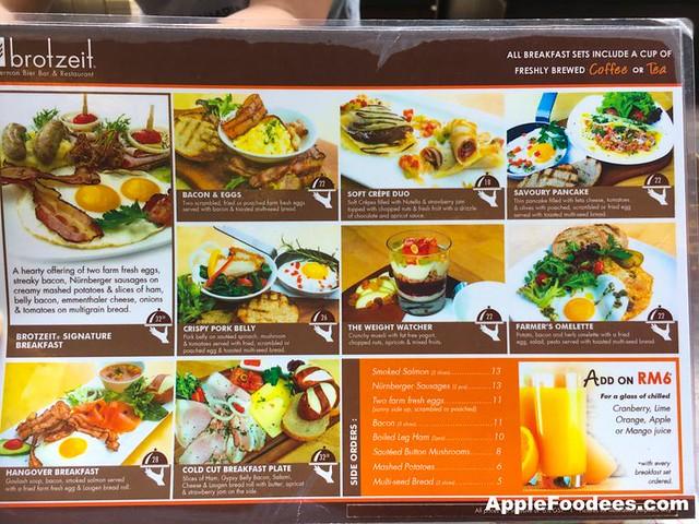Brotzeit German Bier Bar & Restaurant - Special Breakfast Menu