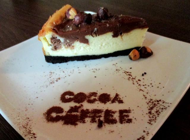 Cocoa Coffee Nutella cheese cake