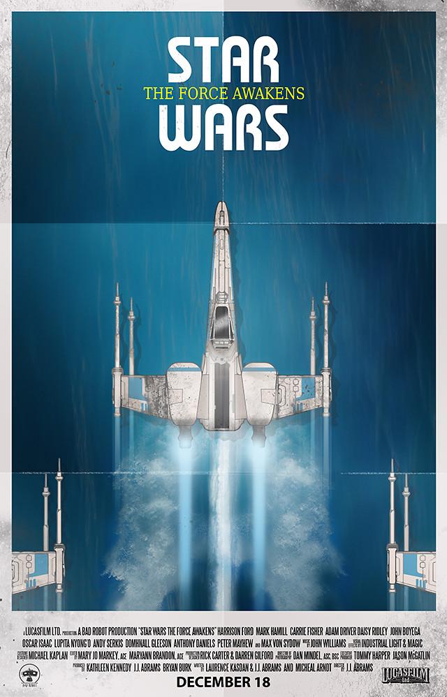 Star Wars: The Force Awakens Retro Poster