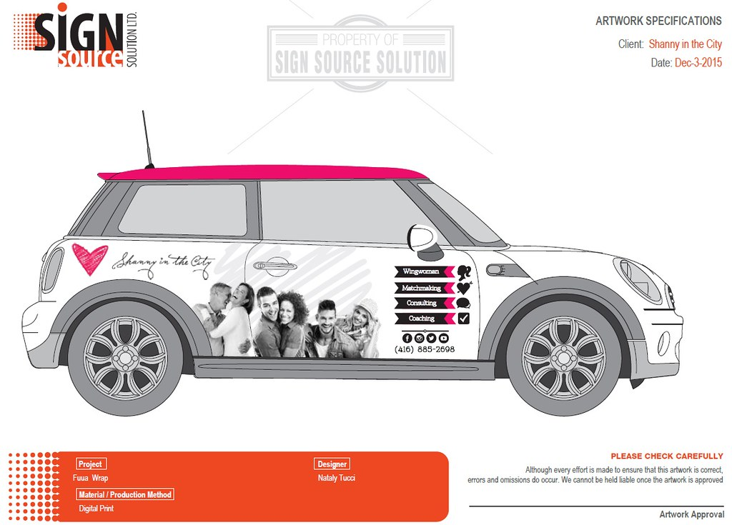 Shanny in the City - Mini Cooper, courtesy of Sign Source Solution