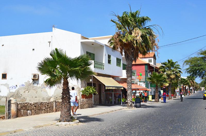 Main street, Santa Maria, Sal, Cape Verde