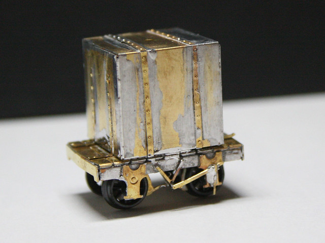 N Brass GVT tar tank wagon (009)