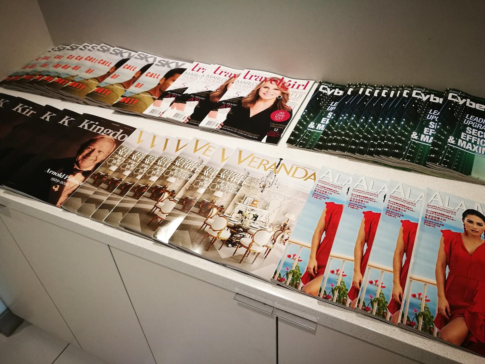Magazine on the cabinet
