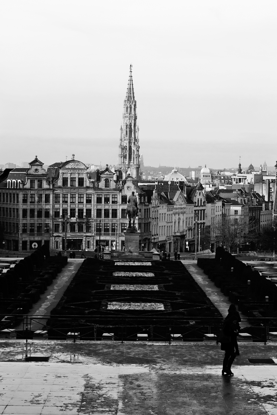 Jardin du Mont des Arts - Brussels.2bw