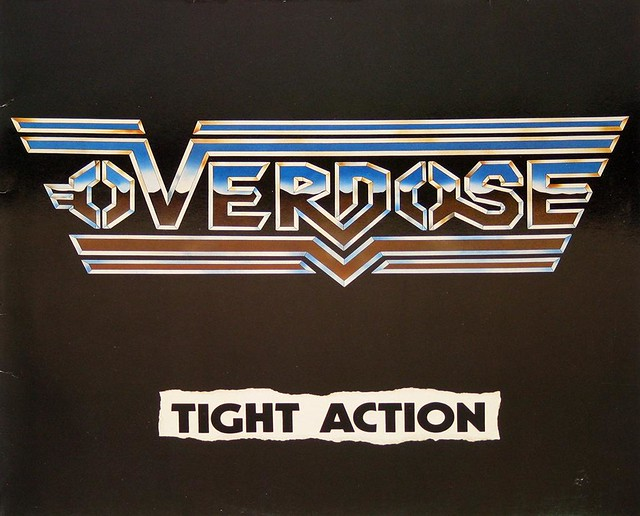 "OVERDOSE TIGHT ACTION 12"" vinyl LP"
