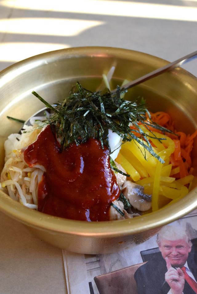 Veggie Bibimbap at Kyoto, Canterbury | www.rachelphipps.com @rachelphipps
