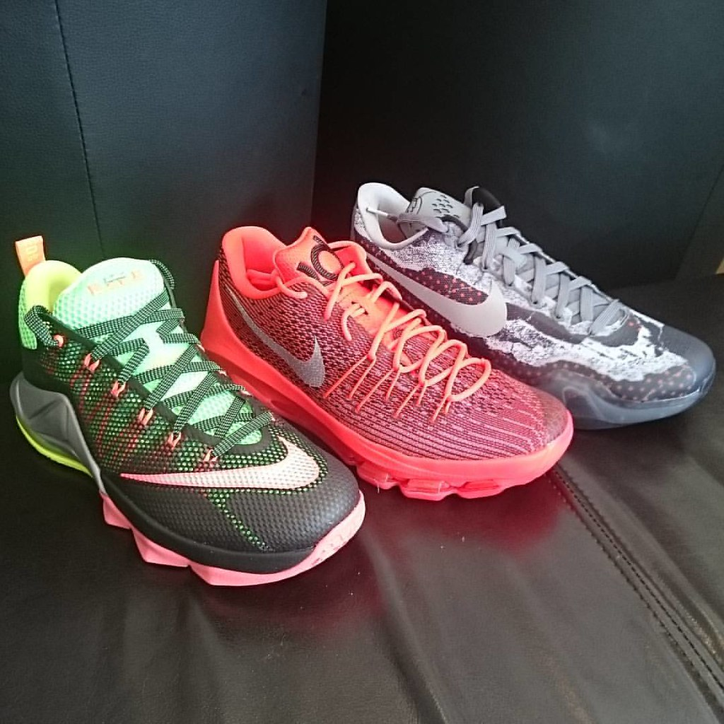 the latest 3fe24 7a6cb ... Nike Lebron XII low remix   Nike Kd 8 V-8   Nike kobe X