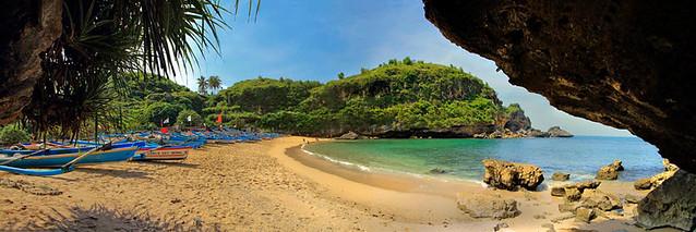 Ngrenehan Beach Panorama
