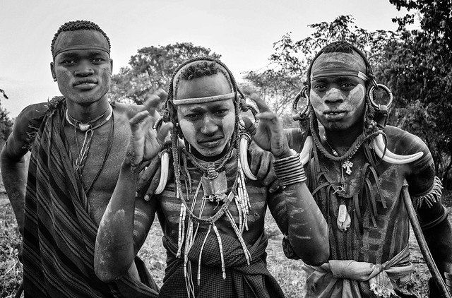 Mursi Tribe Men in Ethiopia