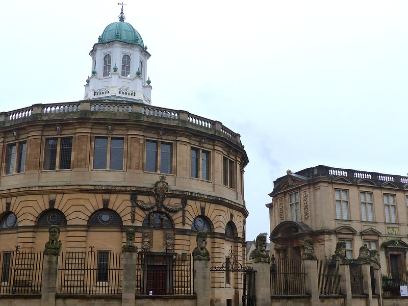 This is a picture of the Sheldonian Theatre, Oxford