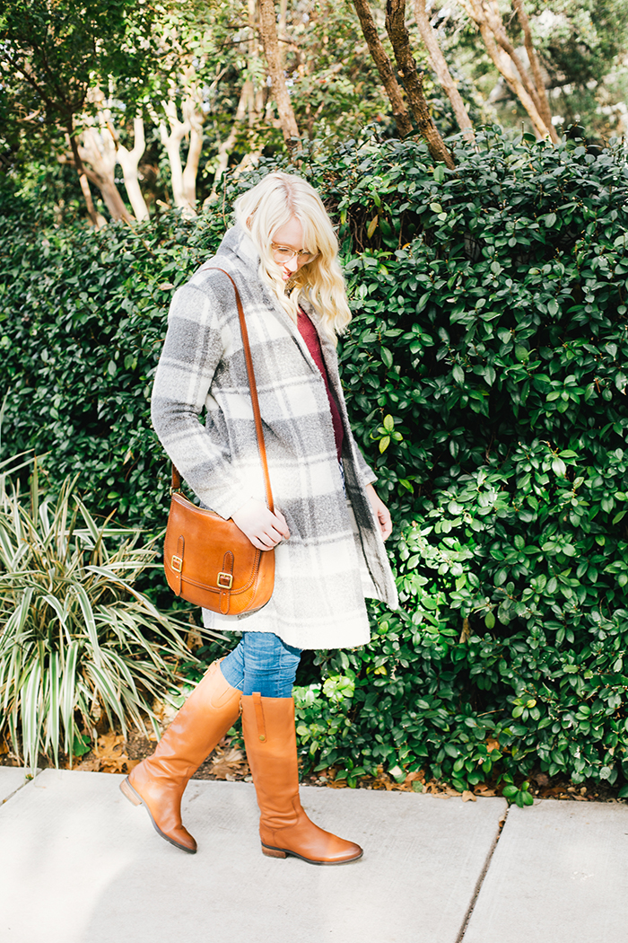 austin style blogger gingham winter outfit9