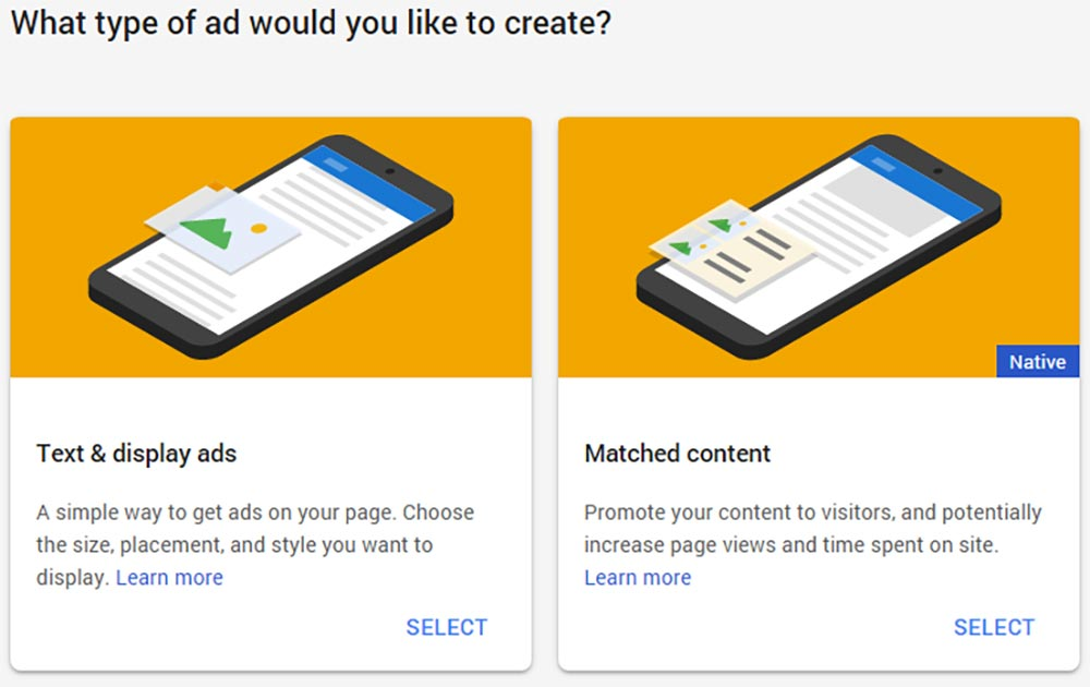 Creating AdSense matched content (native) ads