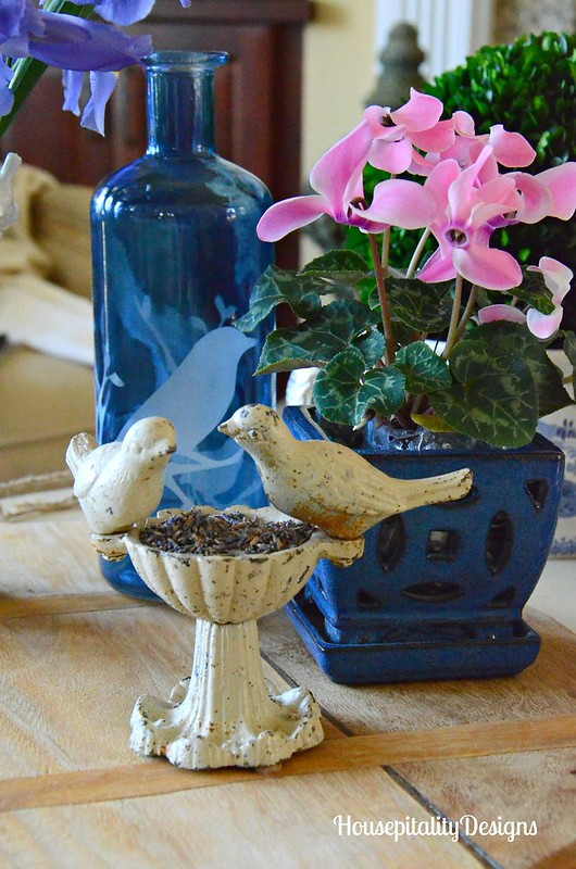Blue and white-bird decor-Housepitality Designs