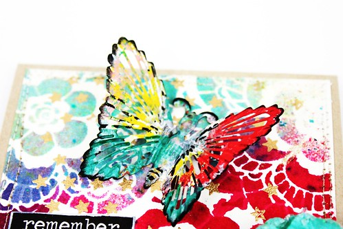 Meihsia Liu Simply Paper Crafts Mixed Media Card Butterfly Tim Holtz Prima Flowers Simon Says Stamp 2