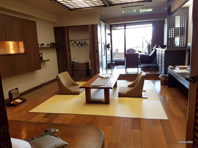private suite with open air onsen
