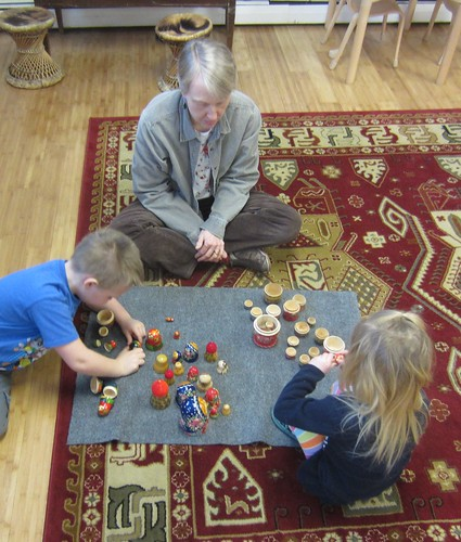 sorting the nesting dolls with Susan