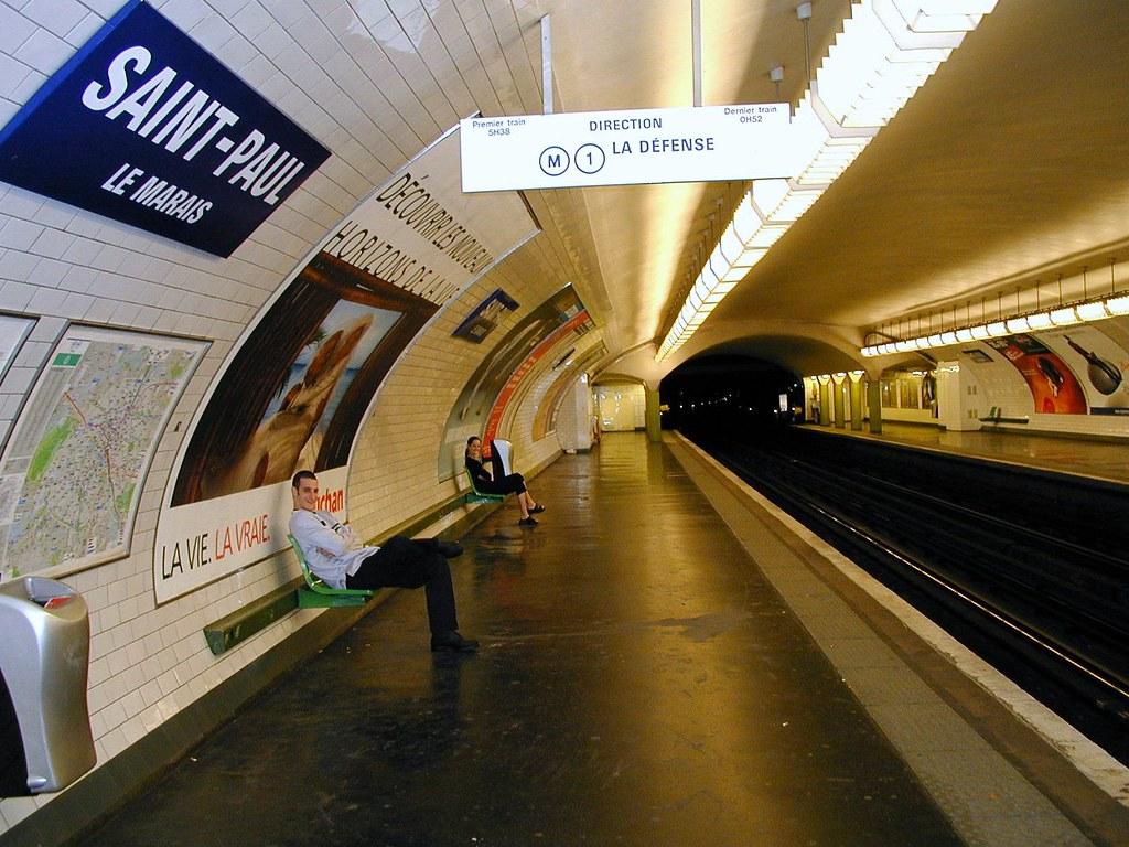 paris metro saint paul station michael summers flickr. Black Bedroom Furniture Sets. Home Design Ideas