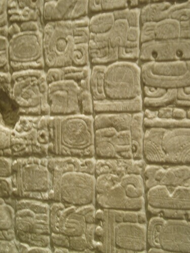 close-up of Aztec glyphs (writing system) | Marisa Green ...