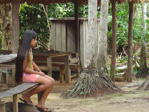 South American Tribal Girls The tribal girl