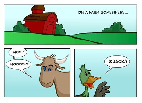 farm comic this is very funny if you speak animalese whi flickr