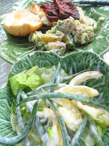 green_bean_salad potato_salad bbq_tofu | by tofu666