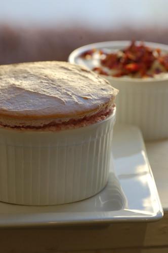 raspberry souffle with rose petal cream | recipe on my ...