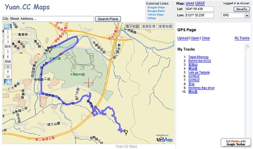 UrMap GPS tracks | by .CK