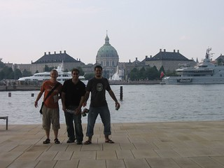 Us in front of Amalienborg Palace and the Marble Church | by gelle.dk
