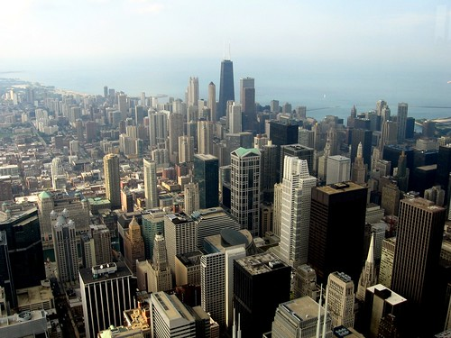 From the Sears Tower Observation deck | View of Chicago ...