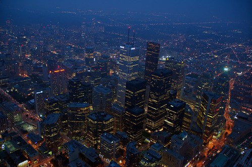 Toronto by night, CN tower | by Hixair