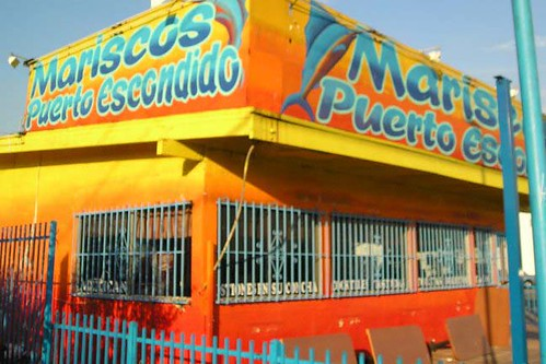 A mariscos restaurant in Wilmington, CA