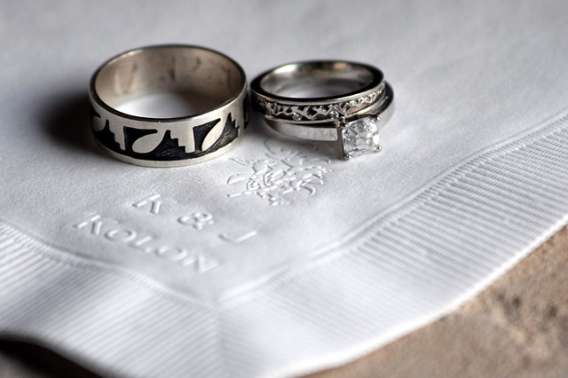 Wedding Rings To Pair With A Teardrop Engagement Ring