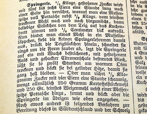 Altes Springerle Rezept Universal-Lexikon der Kochkunst 1911