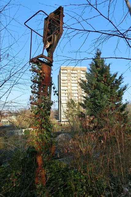 Signal am Stellwerk zwischen Siemensstadt und Gartenfeld
