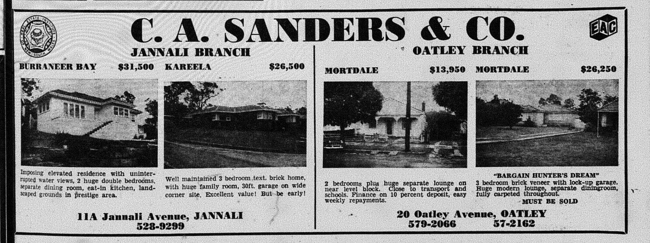 CA Sanders and Co Ad November 17 1971 The Leader page unknown