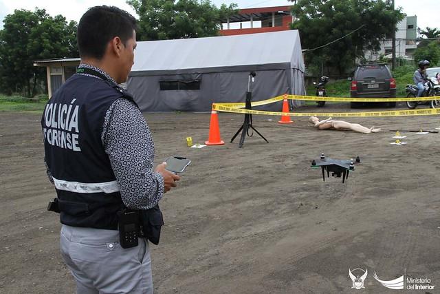 Dron es utilizado de manera experimental para investigaciones policiales, en Manabí