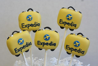 Expedia Logo Suitcases | by Sweet Lauren Cakes