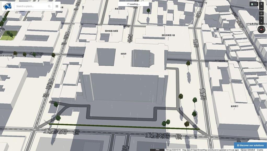 OSM Buildings總統府