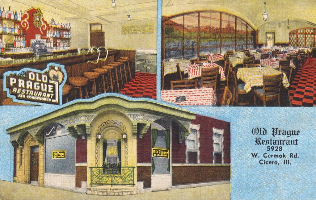 Old Prague Restaurant Cicero Illinois American And