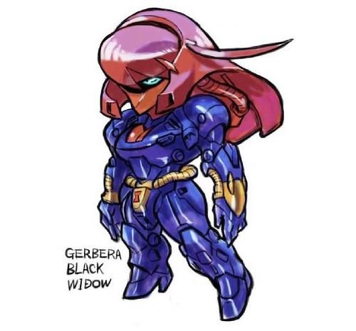 Marvel's Avengers Gundam by Aburaya Tonbi - Gerbera Black Widow