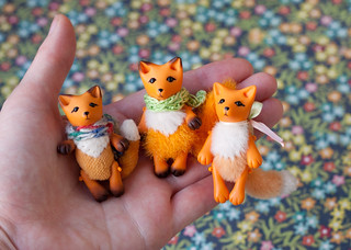 3 tiny foxes | by free_dragonfly