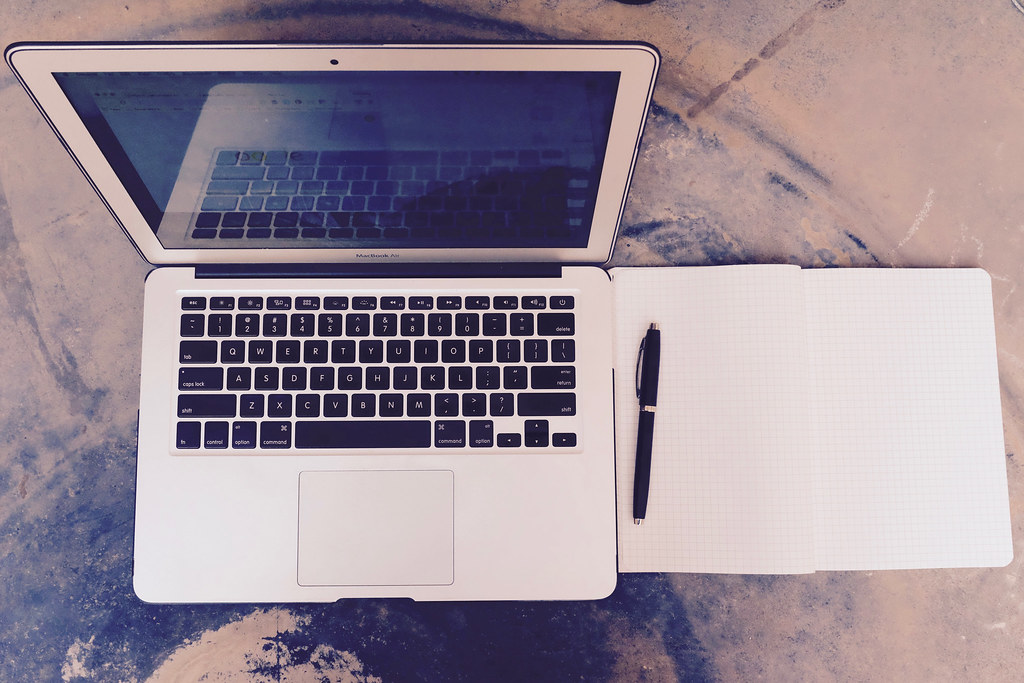 Work Laptop Stock Image Stock Image Of A Macbook Air And