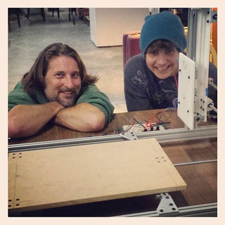 A very happy moment in the 8th-grade project! Three axes move on the CNC machine! | by SarabellaE / Sara / Love in the Suburbs